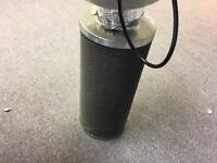 "Hydroponics, 4""inch 100mm RVK Fan Filter kit, Air Flow"