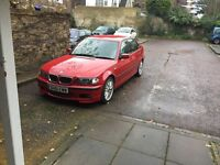 BMW 330D M SPORT 2002 IMOLA RED MANUAL RARE