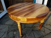 Dining round 110 cm wood table.