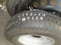 14 5 R10 14/5/R10 small / trailer wheel, looks brand new, on damaged steel wheel