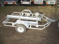 GALVANISED STEEL (500KG) MOTORCYCLE TRANSPORTER ROAD TRAILER....