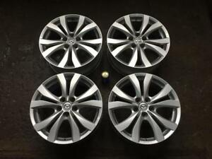"4 MAZDA 18"" FACTORY ORIGINAL 10 SPOKE POWDER COAT SILVER MAGS"