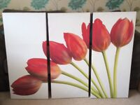 SET OF 3 CANVAS PRINTS £10