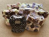 8 blueberry reusable nappies
