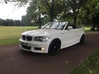 2011 BMW 123d 2.0 DIESEL M SPORT CONVERTIBLE WHITE