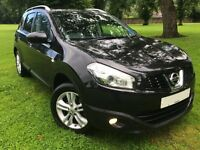 7 SEATER! 1.5L DIESEL! 2010 NISSAN QASHQAI+2, PAN/ROOF, CRUISE CTRL, FSH, 61 MPG, LONG MOT, 1 KEEPR!