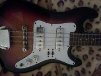 Satellite bass guitar 1970/s 3/4 size