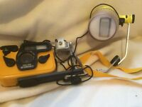 Divers 35 mm camera and lamp in good usable condition complete