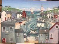 Lighthouse bay canvas painting - Peter Adderley