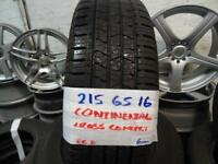 MATCHING SET 215 65 16 CONTIS 6MM TREAD £60 PAIR £110 SET SUPP & FITD ALSO 205 70 16s & 215 70 16s