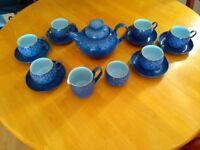 Denby Midnight Blue tea set