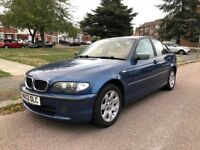BMW 320D SE 1995cc Turbo Diesel 5 speed manual 4 door saloon 52 Plate 25/10/2002 Blue