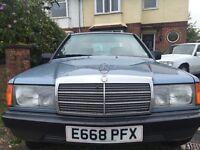 Mercedes 190, Built by Daimler Benz, Duplex Chain driven, MOT until APR17, well maintained