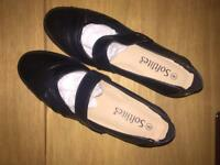 Soft tiles women black (work shoes)