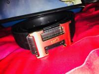Hermes Gold buckle Brand new leather belt for sale