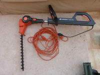 Gardena telescopic hedge trimmer and cable