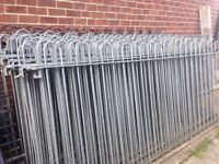 Steel fencing rails railing - 9ft sections