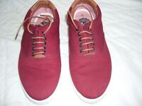 Mens Burgundy Canvas Pumps by Twisted Soul , Size 9