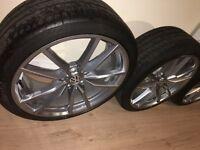 Volkswagen Golf 7 VW VII R 19 Inch Pretoria Aluminium Wheels Rims Set With Tire Genuine