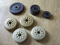 Assorted York Barbell Dumbell Vinyl + Cast Iron Weights Bundle / Lot