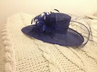 Beautiful Royal blue wedding hat. Worn once. £45