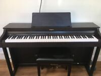 Roland HP 302 Rosewood Digital Piano and Stool. 88 touch sensitive keys.