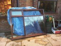 Hardwood window frame