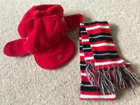 Build a Bear winter hat and scarf