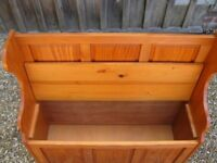MONKS BENCH. PINE PEW. Delivery poss. Storage for toys, shoes etc. CHURCH PEWS & CHAIRS FOR SALE.