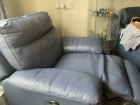 Leather recliner dfs
