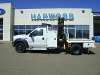 2007 Ford F-550 CHASSIS CAB XLT,PICKER,WELL MAINTAINED