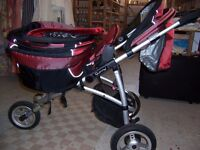 Pushchair, red Quinny (Fm Cambridge Re-Use)