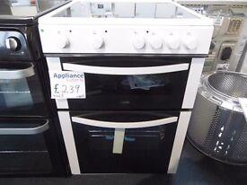 NEW GRADED LOGIK 60 WIDE WHITE FREESTANDING COOKER REF: 31065