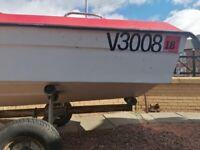 Boat +trailer