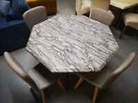 Dining Table, Octagonal Marble Dining Table