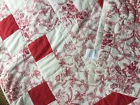 NIMBUS - QUILTED, PATCHWORK STYLE, DOUBLE BED SPREAD