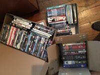 DVDs (around 150, mostly films)