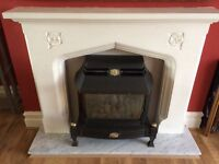 Gas fire with surround used but good condition