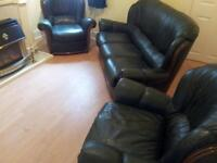 3 piece suite sofa and 2 chairs