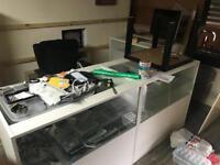 Shop display units / front desk reception