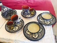 terracotta tagine set bought from Morocco, handmade