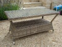 Rattan garden coffee table