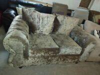 Velvet diamante sofa settee vgc delivery possible