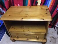 TV cabinet. Pine with Drawer, good condition