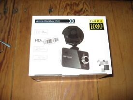 Car dash-cam 1080HD video recorder new, unused in box with accessories and manual