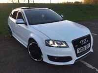 ***IBIS WHITE S3 SPORTBACK**52K**FSH**PAN-ROOF**SAT-NAV**MAG-RIDE**340BHP**MILLTEK**FULLY LOADED***