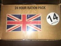 British Army 24hr ration pack.