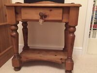 Wooden Side / Phone Table with Drawer