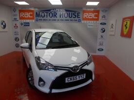 Toyota Yaris VVT-I ICON(ONLY 20000 MILES)FREE MOT'S AS LONG AS YOU OWN THE CAR!!! (white) 2015
