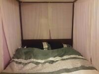 Four poster Queen size bed- with canopy